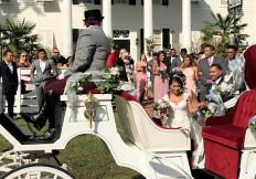 Newlyweds Departing